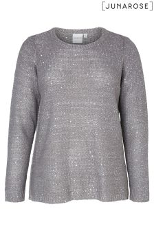 Juna Rose Knit Sequins Pullover