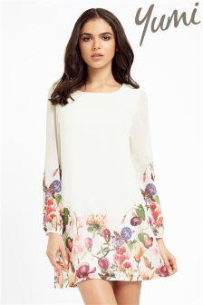 Yumi Botanical Floral Print Tunic Dress