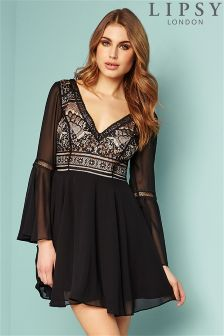 Lipsy Lace Bell Skater Dress