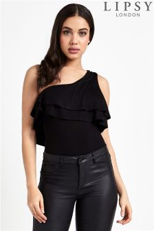 Lipsy One Shoulder Ruffle Bodysuit