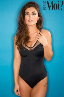 Pour Moi Mixed Mesh Swimsuit