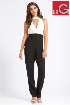 Wal G High Neck Jumpsuit With Key Hole Detail