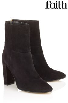 Faith Ankle Block Heel Boots