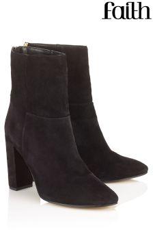 Faith Ankle Block Heel Boots