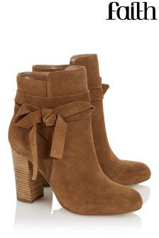 Faith Wrap Around Ankle Boots