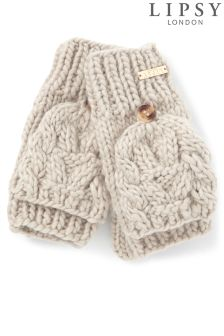 Lipsy Cable Flip Top Mittens