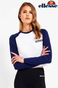 Ellesse Long Sleeve Raglan Crop Tee
