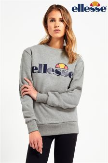 Ellesse Boyfriend Fit Grey Marl Sweatshirt