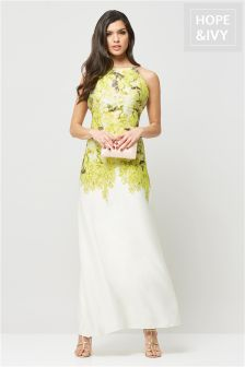 Hope & Ivy Ombre Floral Maxi Dress