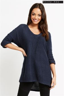 Noisy May Deep V neck Jumper