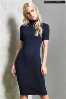 Noisy May Knitted Rib Short Sleeve Dress