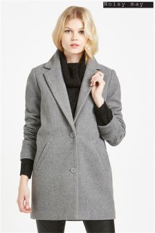 Noisy May Button Up City Coat