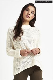 Noisy May Long Sleeve Funnel Neck Knit Top