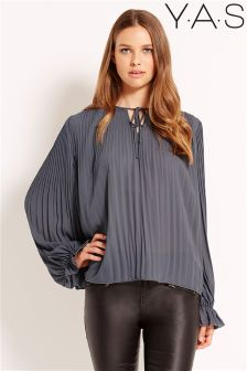 YAS Cuffed Sleeve Blouse