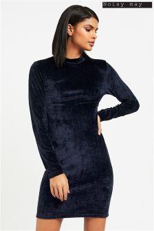Noisy May Velvet Short Dress