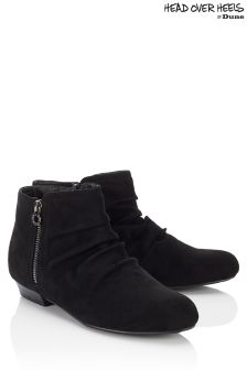 Head Over Heels Side Zip Detail Ankle Boots