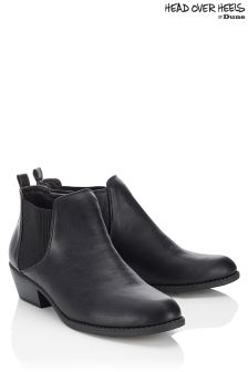 Head Over Heels Elastic Ankle Boots