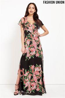 Fashion Union Floral Maxi Dress
