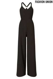 Fashion Union Racer Back Jumpsuit