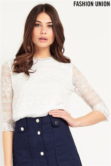 Fashion Union Lace Top
