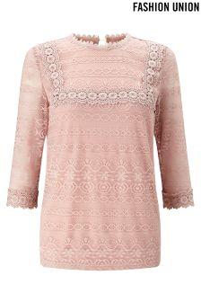 Fashion Union Lace Top