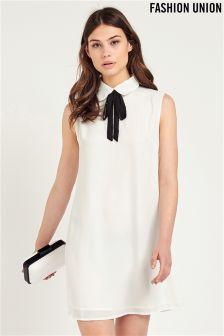 Fashion Union Tie Neck Dress