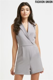 Fashion Union Wrap Front Playsuit