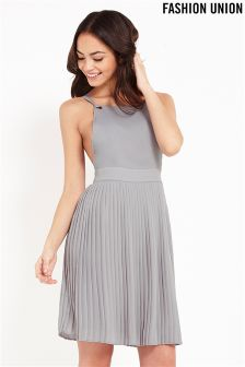 Fashion Union Pleated Pinafore