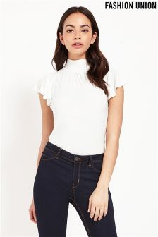 Fashion Union High Neck Top