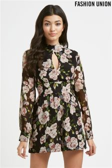 Fashion Union Floral Playsuit