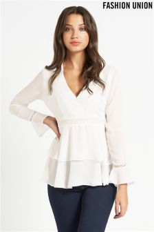 Fashion Union Layered Blouse