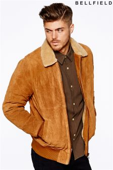 Bellfield Mens Suede Flying Jacket