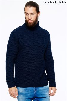 Bellfield Mens Roll Neck Jumper