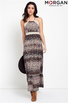 Morgan Halterneck Floral Maxi Dress