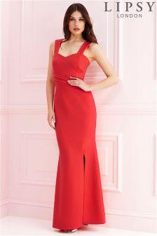 Lipsy Pleat Scuba Maxi Dress