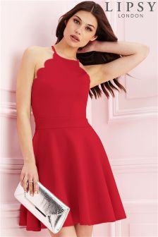 Lipsy Scallop Hem Skater Dress