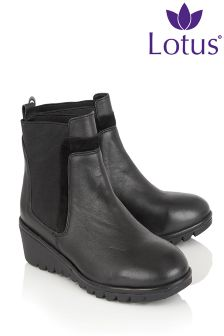 Lotus Wedge Ankle Boot