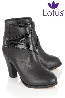 Lotus High Heeled Ankle Boot