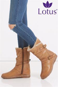 Lotus Calf Boots