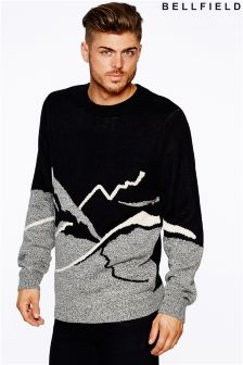 Bellfield Mens Mountain Scene Jumper