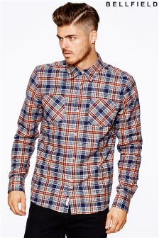 Bellfield Mens Flannel Check Shirt