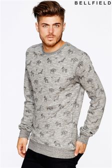 Bellfield Mens All Over Printed Sweatshirt