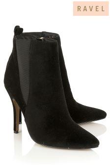 Ravel Velvet Heeled Chelsea Boots