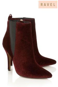 Ravel Velvet Heeled Boots