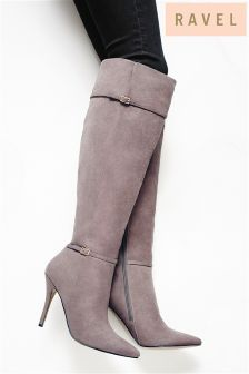 Ravel Knee High Pointed Heeled Boots