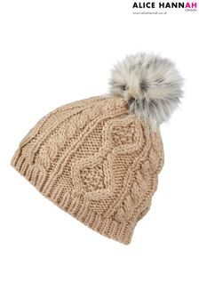 Alice Hannah Cable Knit Hat