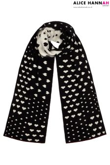 Alice Hannah Patchwork Heart And Spot Scarf