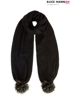 Alice Hannah Faux Fur Trim Scarf