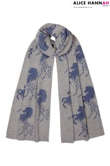Alice Hannah Galloping Horses Shawl