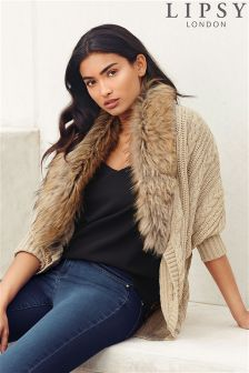 Lipsy Faux Fur Collar Shrug